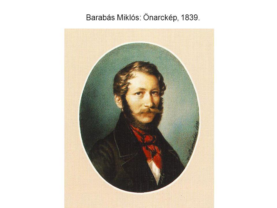 Barabás Miklós: Önarckép, 1839.