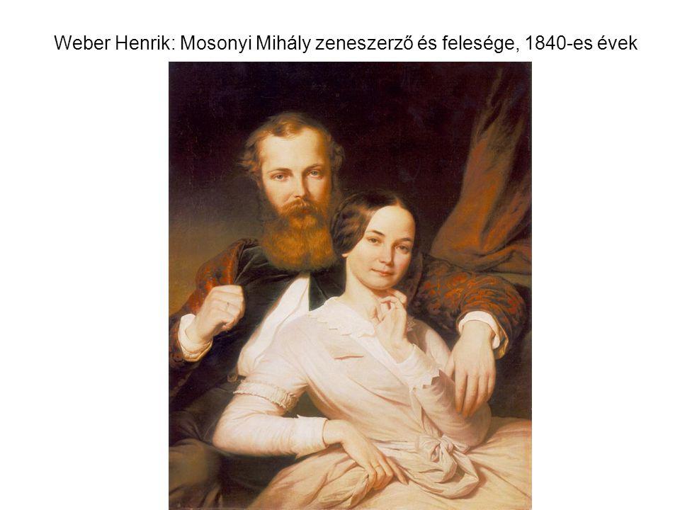 Weber Henrik: Mosonyi Mihály zeneszerző és felesége, 1840-es évek