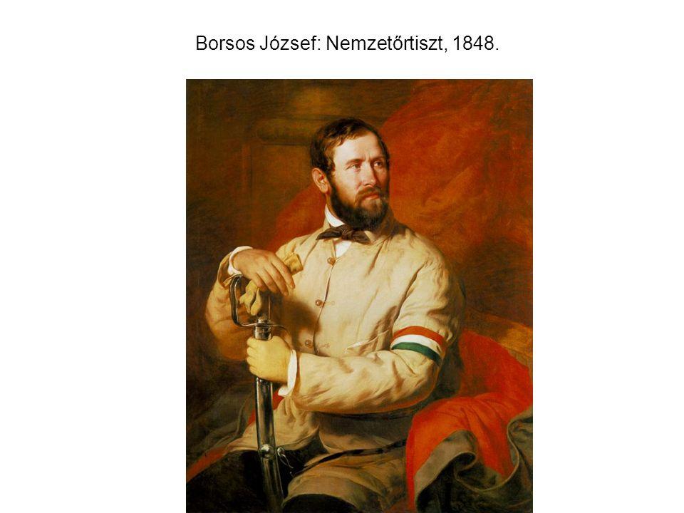 Borsos József: Nemzetőrtiszt, 1848.