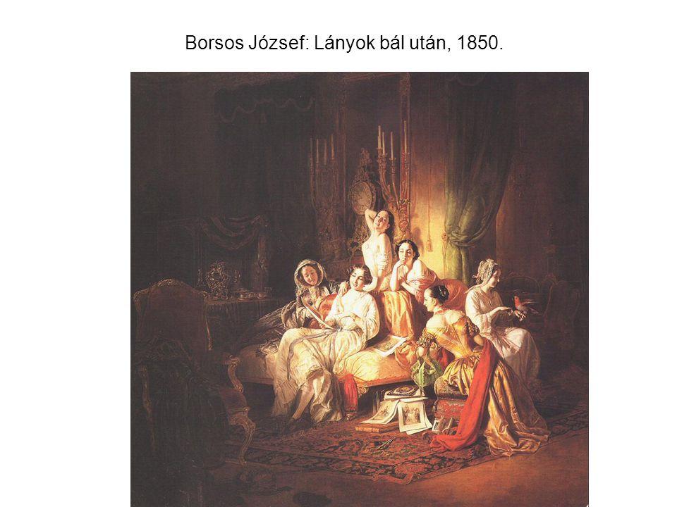 Borsos József: Lányok bál után, 1850.