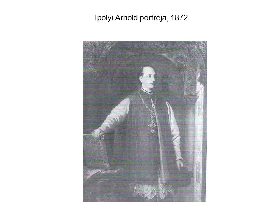 Ipolyi Arnold portréja, 1872.