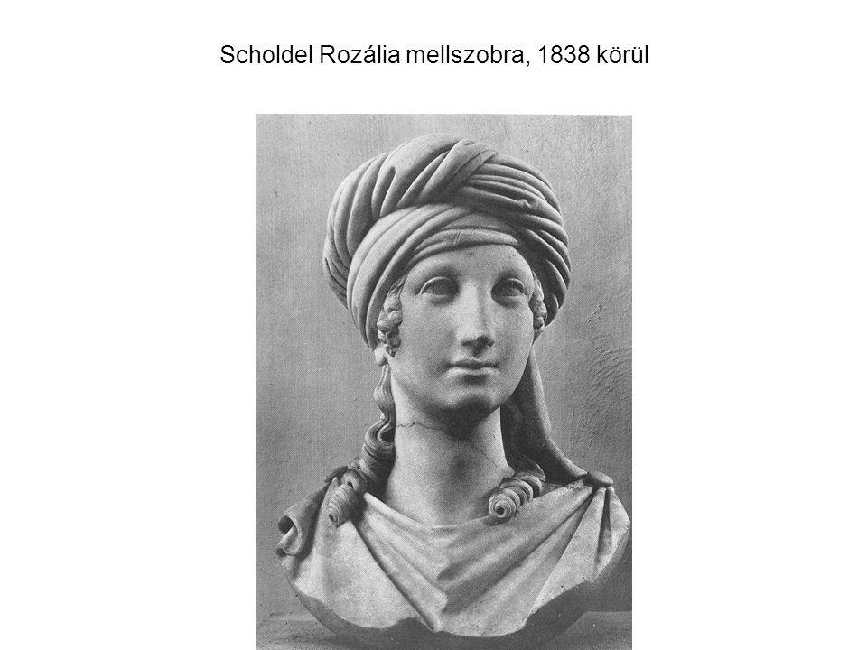 Scholdel Rozália mellszobra, 1838 körül