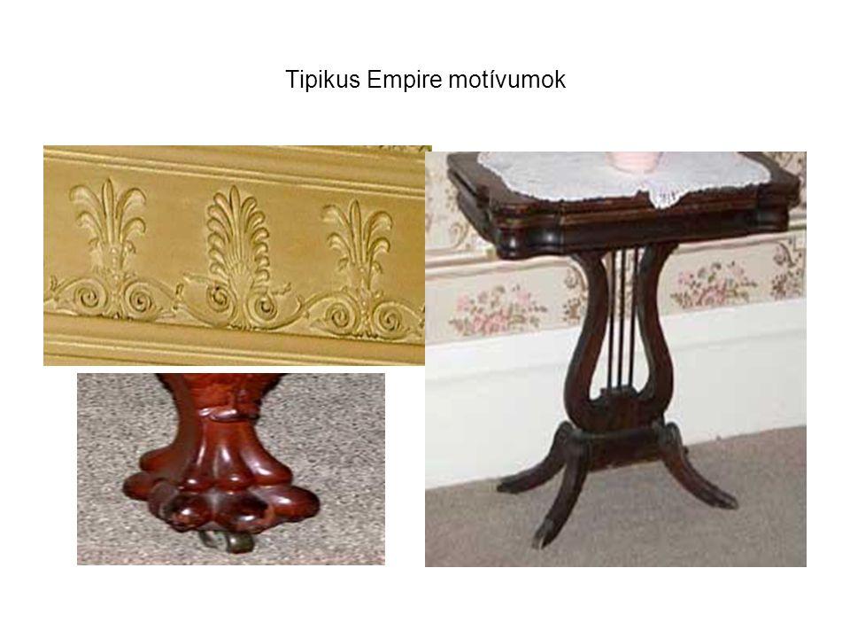 Tipikus Empire motívumok