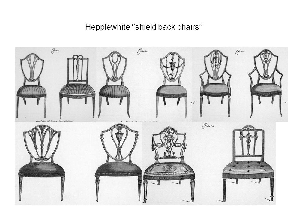 Hepplewhite ''shield back chairs''