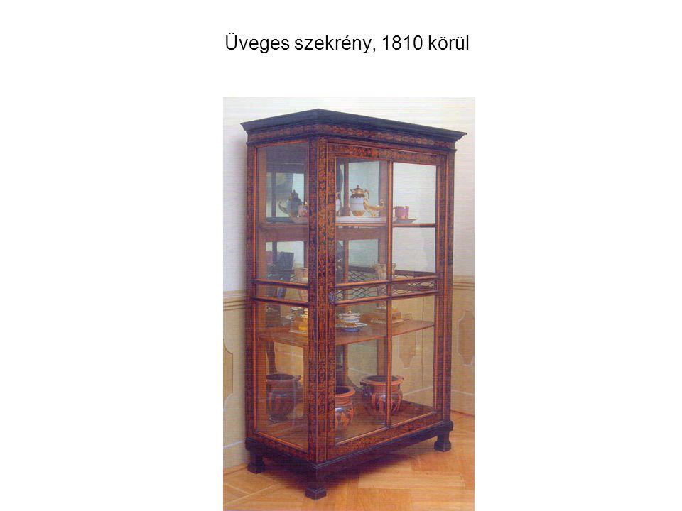 Üveges szekrény, 1810 körül