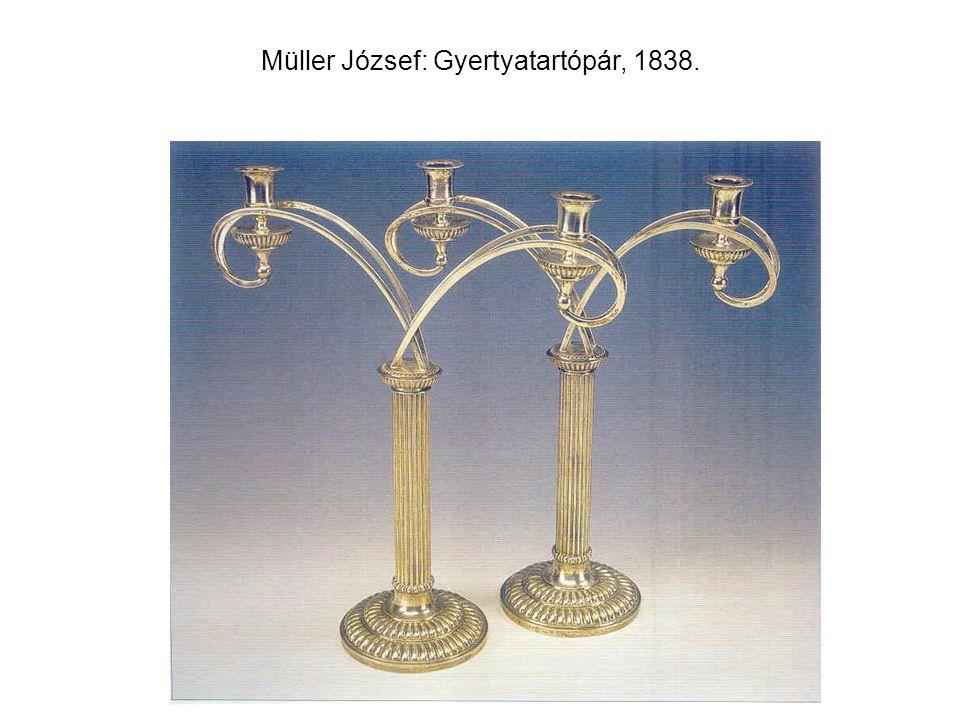 Müller József: Gyertyatartópár, 1838.