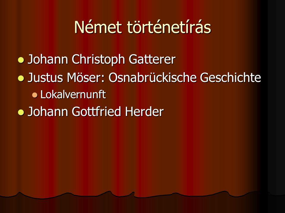 Német történetírás Johann Christoph Gatterer