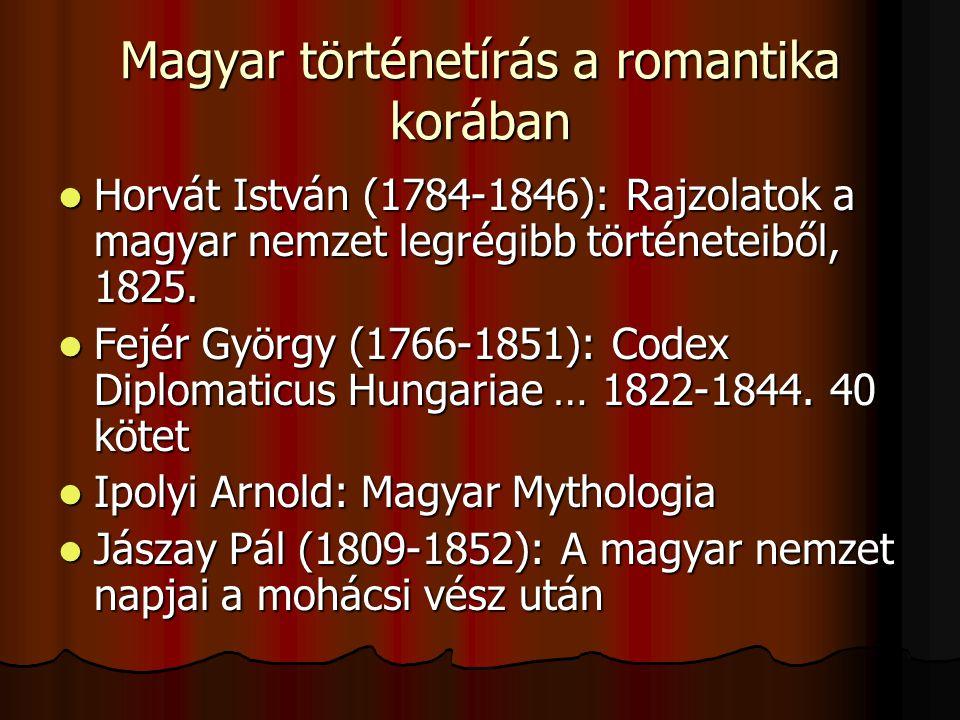 Magyar történetírás a romantika korában