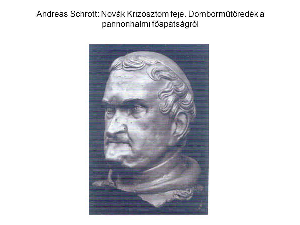 Andreas Schrott: Novák Krizosztom feje