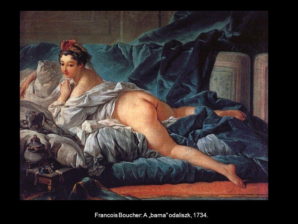 """Francois Boucher: A """"barna odaliszk, 1734."""