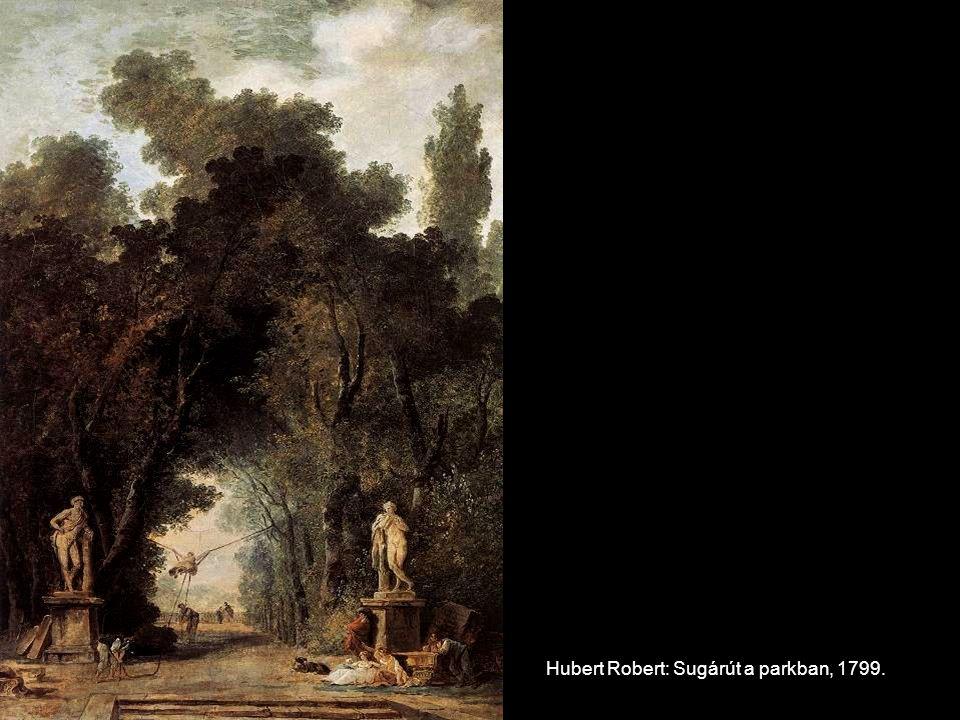 Hubert Robert: Sugárút a parkban, 1799.
