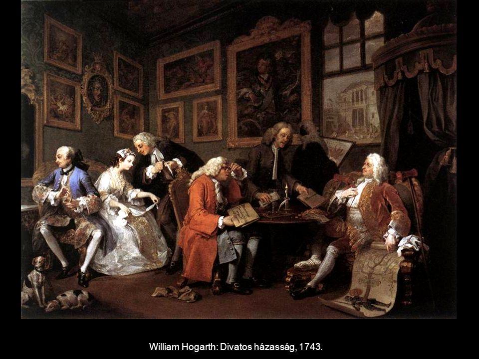 William Hogarth: Divatos házasság, 1743.