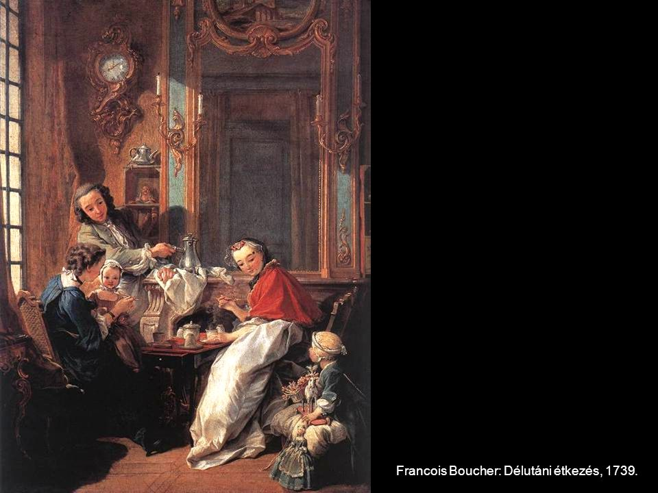 Francois Boucher: Délutáni étkezés, 1739.