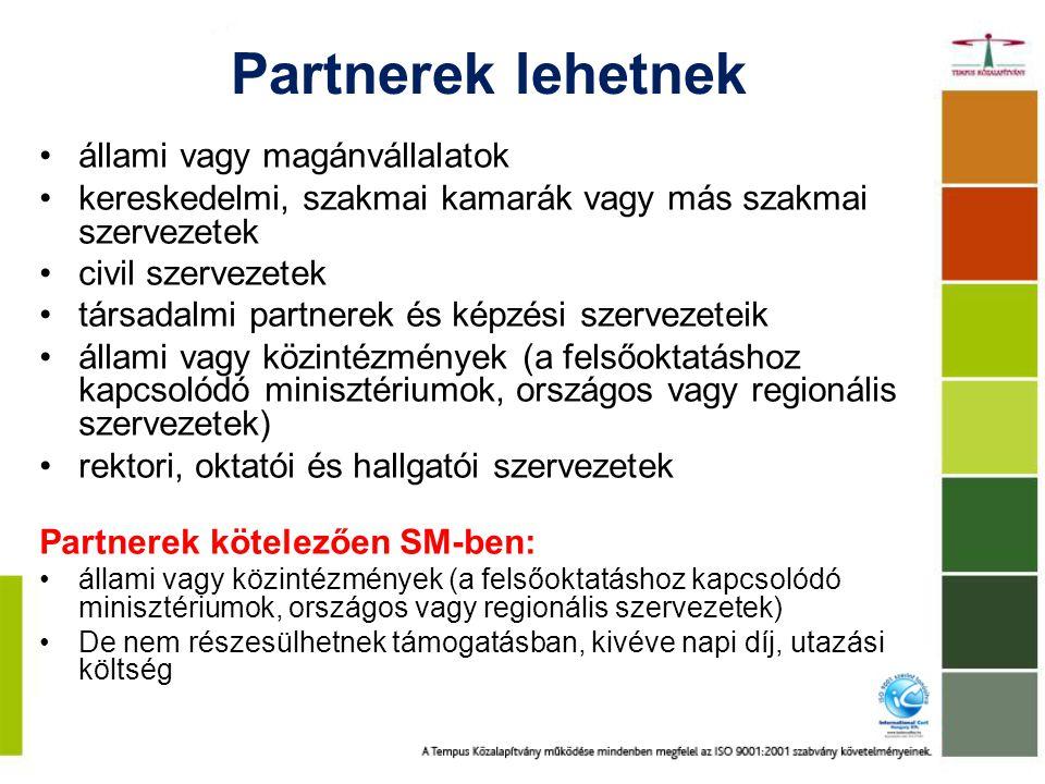 Partnerek lehetnek állami vagy magánvállalatok