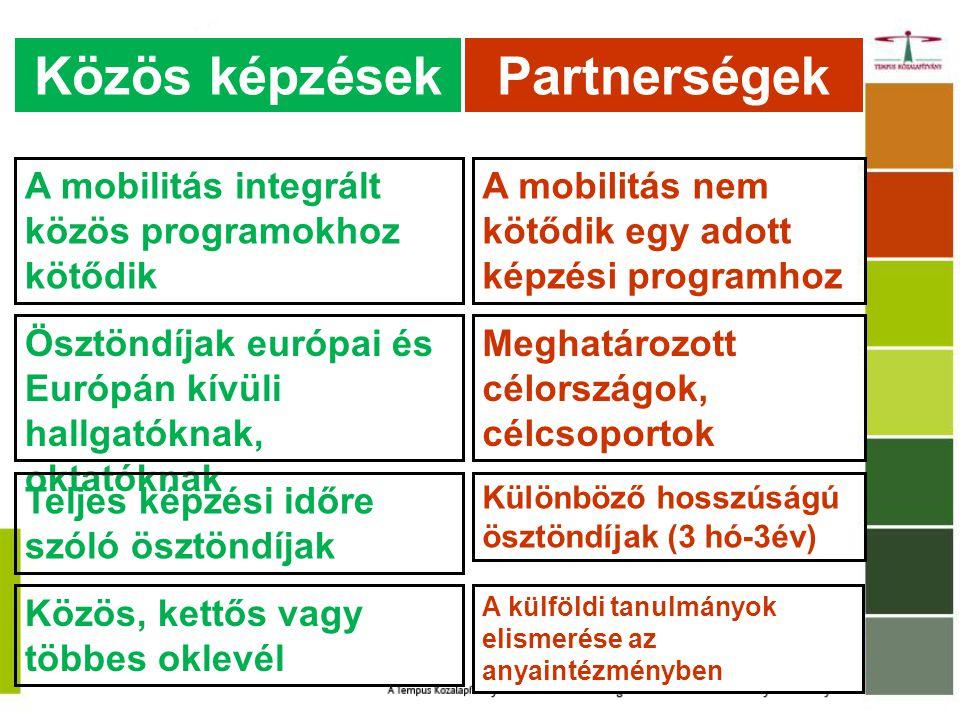 Közös képzések Partnerségek
