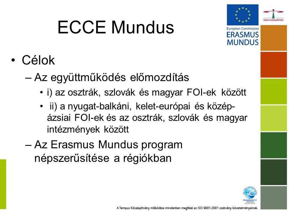 ECCE Mundus Célok Az együttműködés előmozdítás