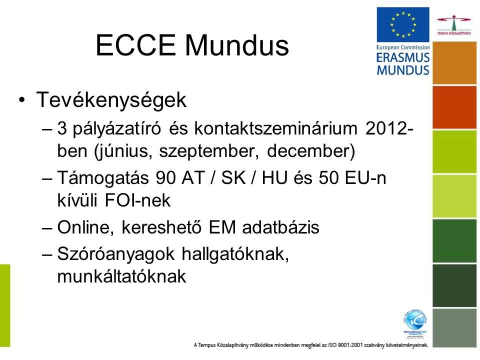ECCE Mundus Tevékenységek