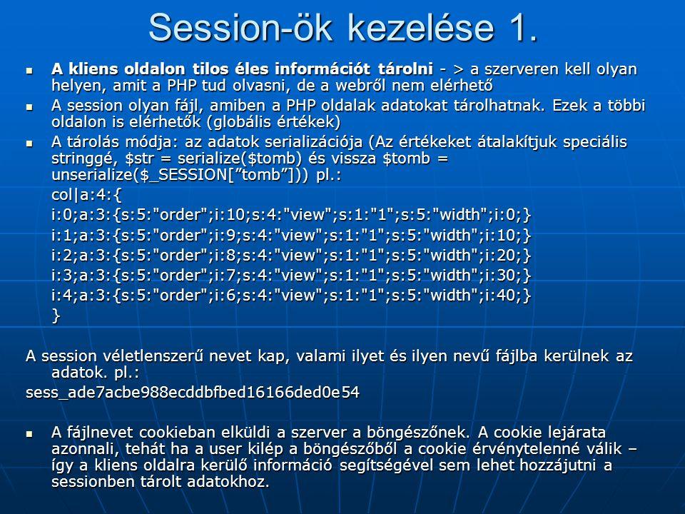 Session-ök kezelése 1.