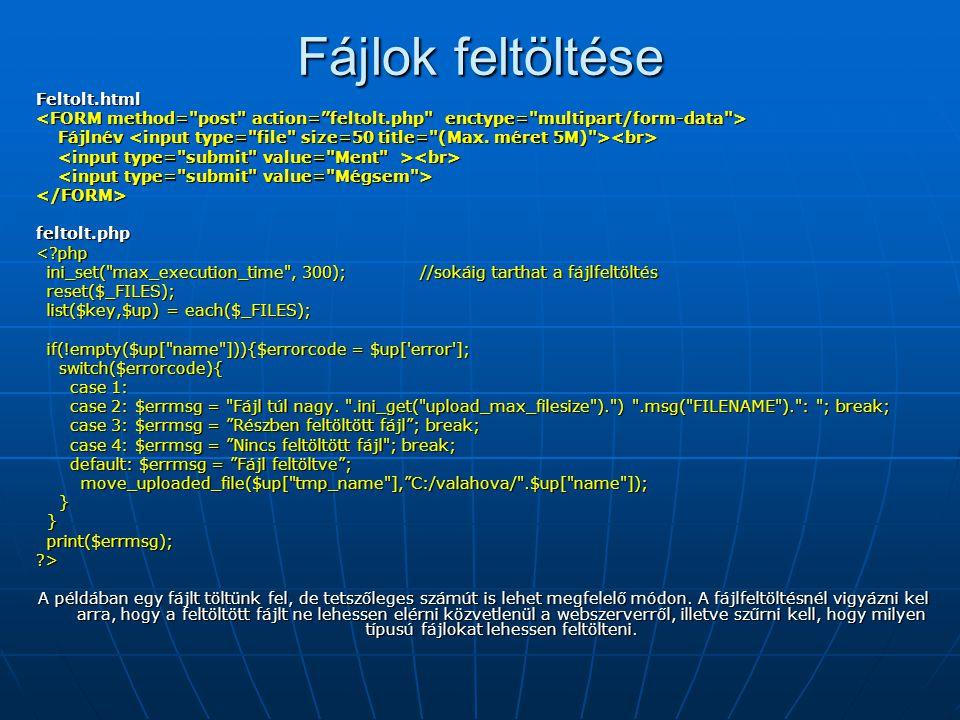 Fájlok feltöltése Feltolt.html