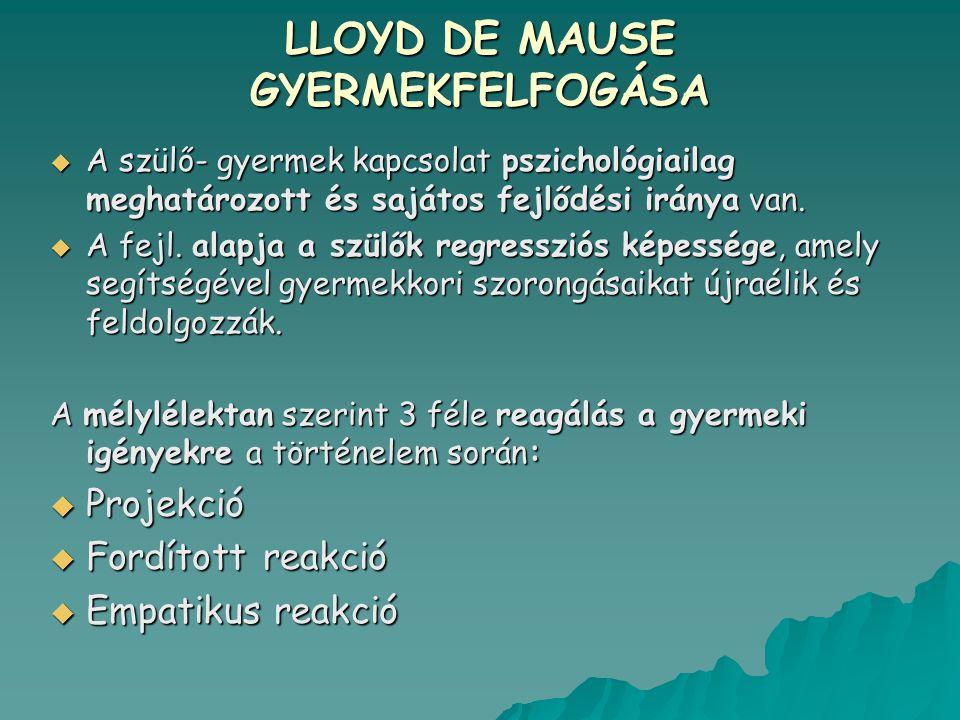 LLOYD DE MAUSE GYERMEKFELFOGÁSA