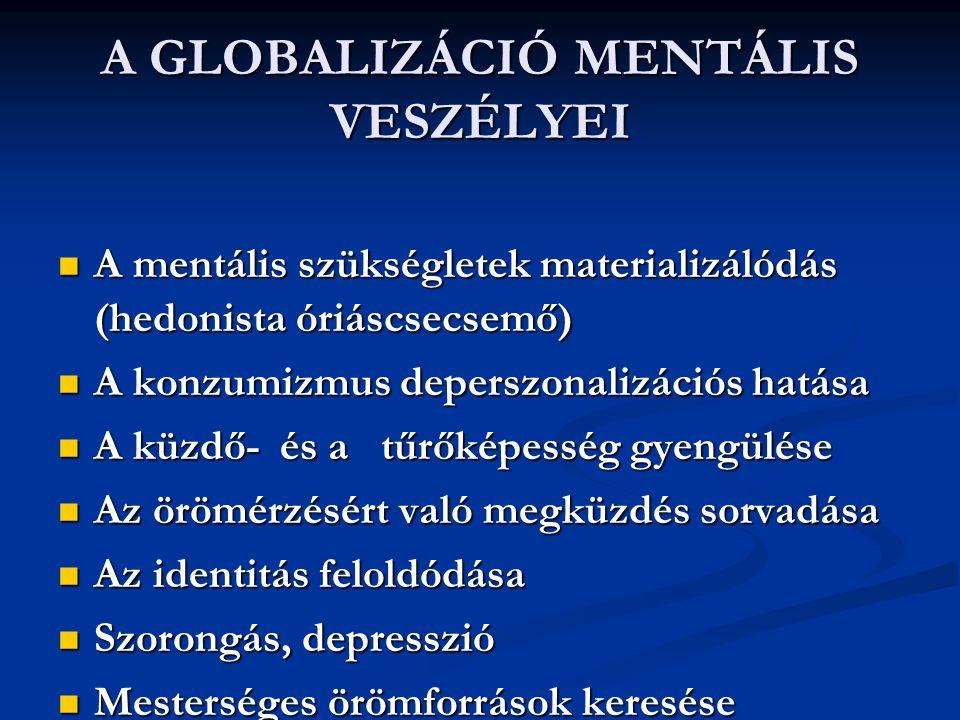 A GLOBALIZÁCIÓ MENTÁLIS VESZÉLYEI