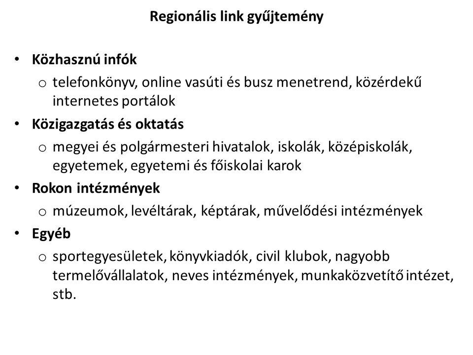 Regionális link gyűjtemény