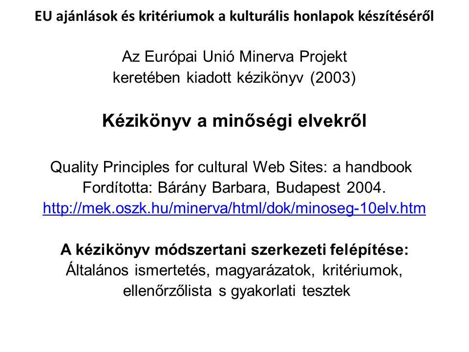 Kézikönyv a minőségi elvekről