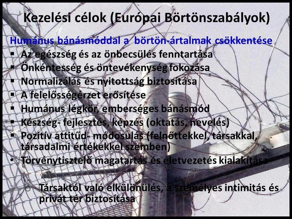 Kezelési célok (Európai Börtönszabályok)