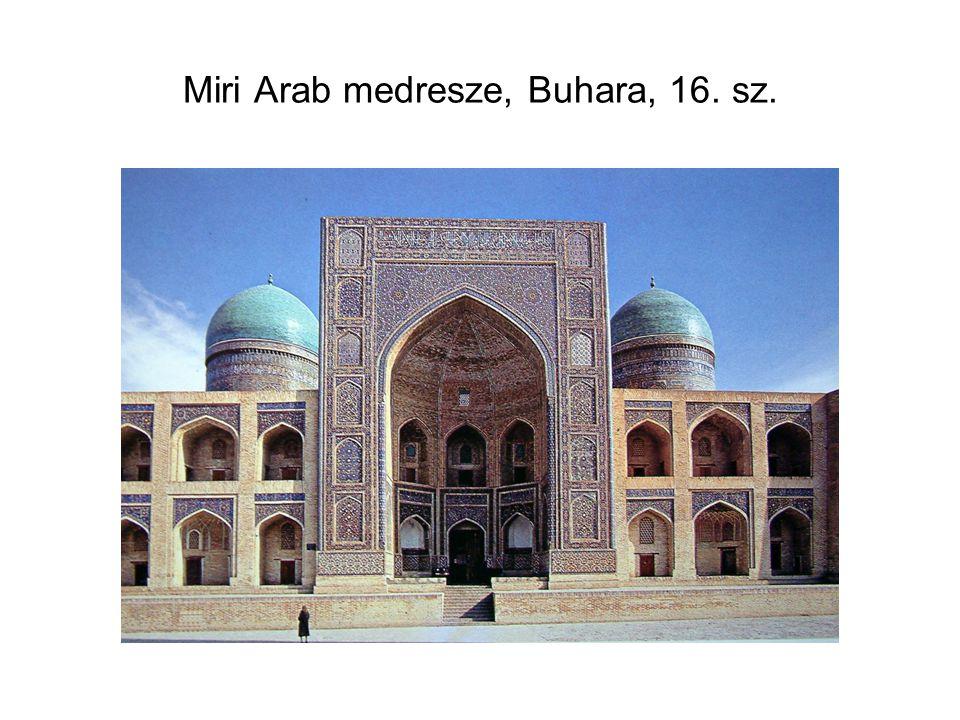 Miri Arab medresze, Buhara, 16. sz.