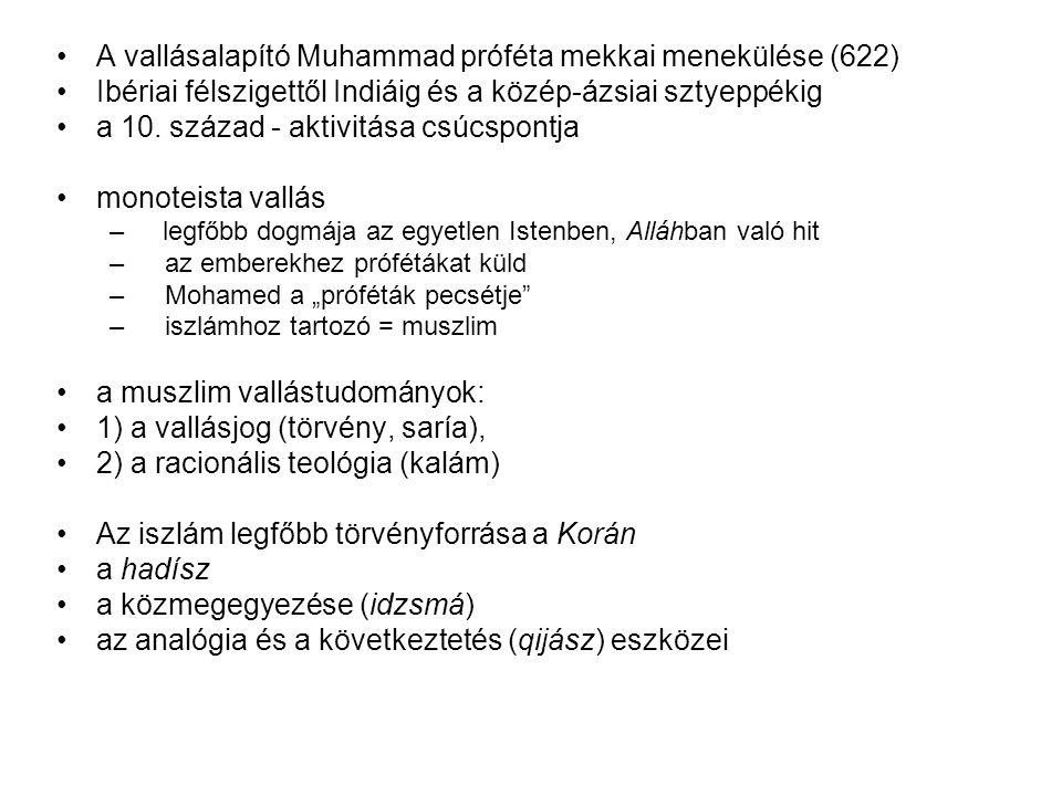 A vallásalapító Muhammad próféta mekkai menekülése (622)