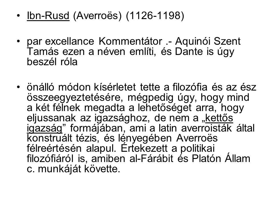 Ibn-Rusd (Averroës) (1126-1198)