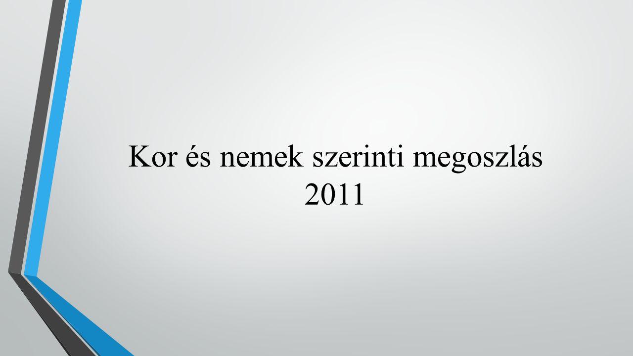 Kor és nemek szerinti megoszlás 2011