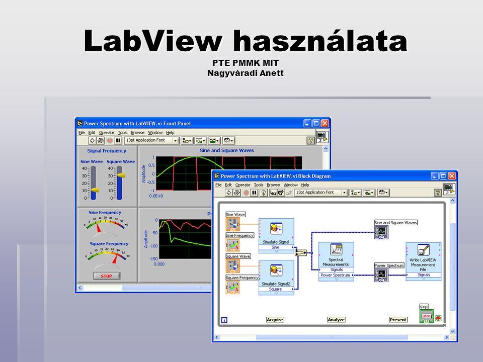 LabView használata PTE PMMK MIT Nagyváradi Anett