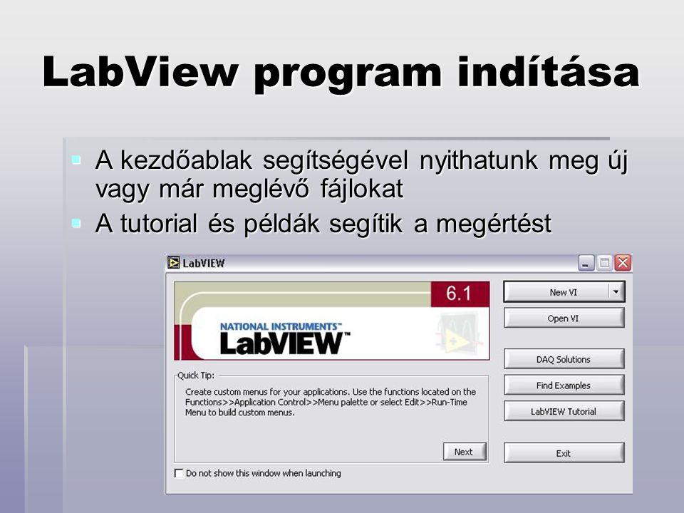 LabView program indítása