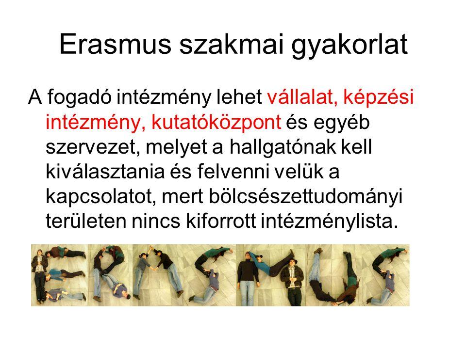 Erasmus szakmai gyakorlat