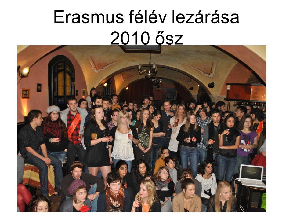Erasmus félév lezárása 2010 ősz