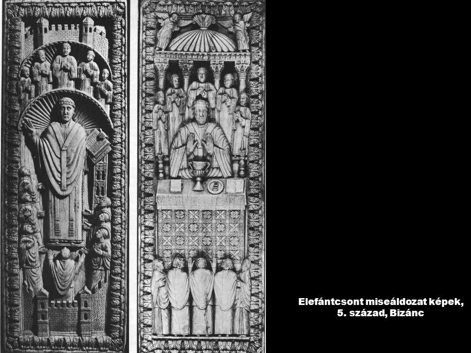 Elefántcsont miseáldozat képek, 5. század, Bizánc