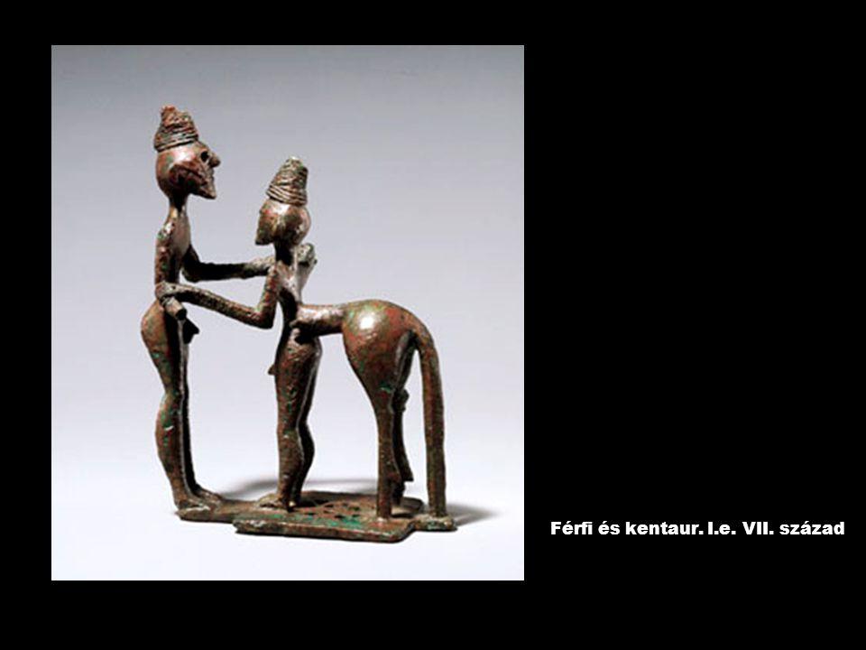 Férfi és kentaur. I.e. VII. század