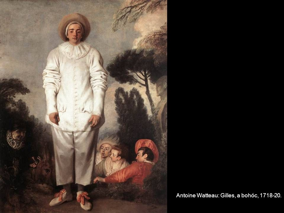 Antoine Watteau: Gilles, a bohóc, 1718-20.