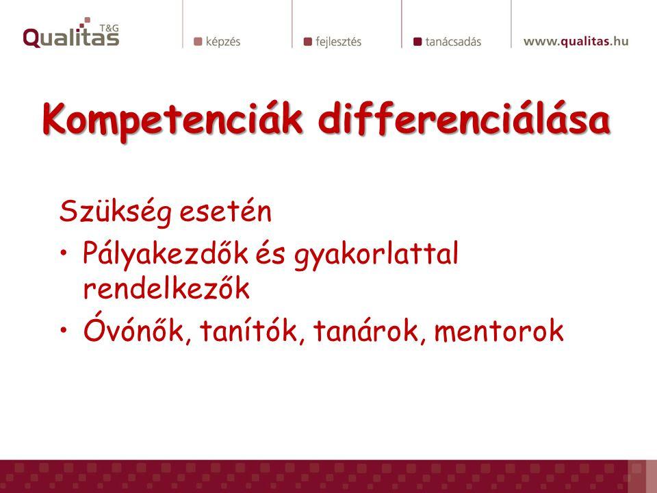 Kompetenciák differenciálása