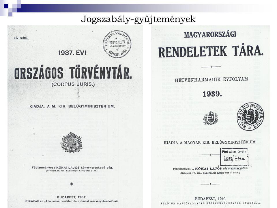 Jogszabály-gyűjtemények