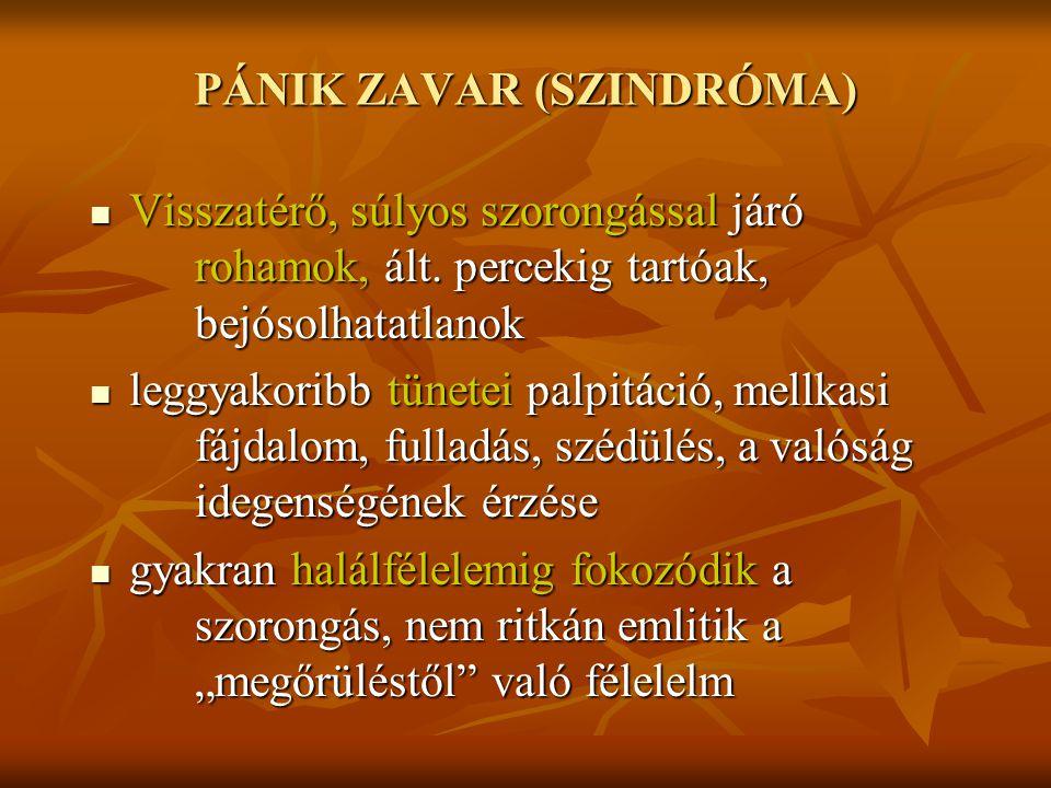 PÁNIK ZAVAR (SZINDRÓMA)