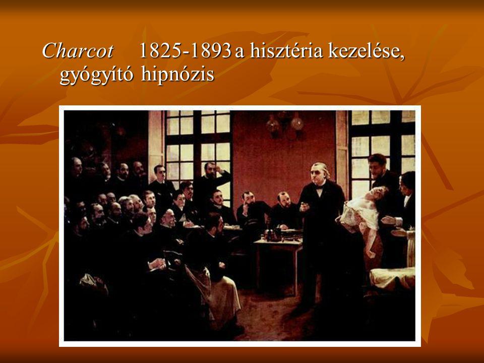 Charcot 1825-1893 a hisztéria kezelése, gyógyító hipnózis