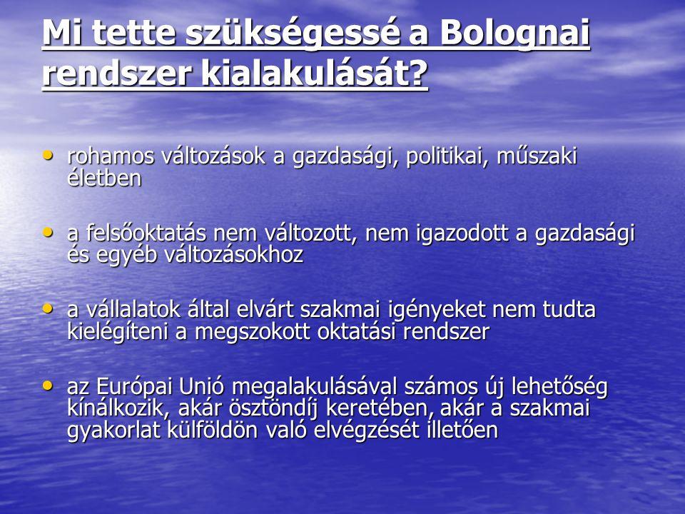 Mi tette szükségessé a Bolognai rendszer kialakulását