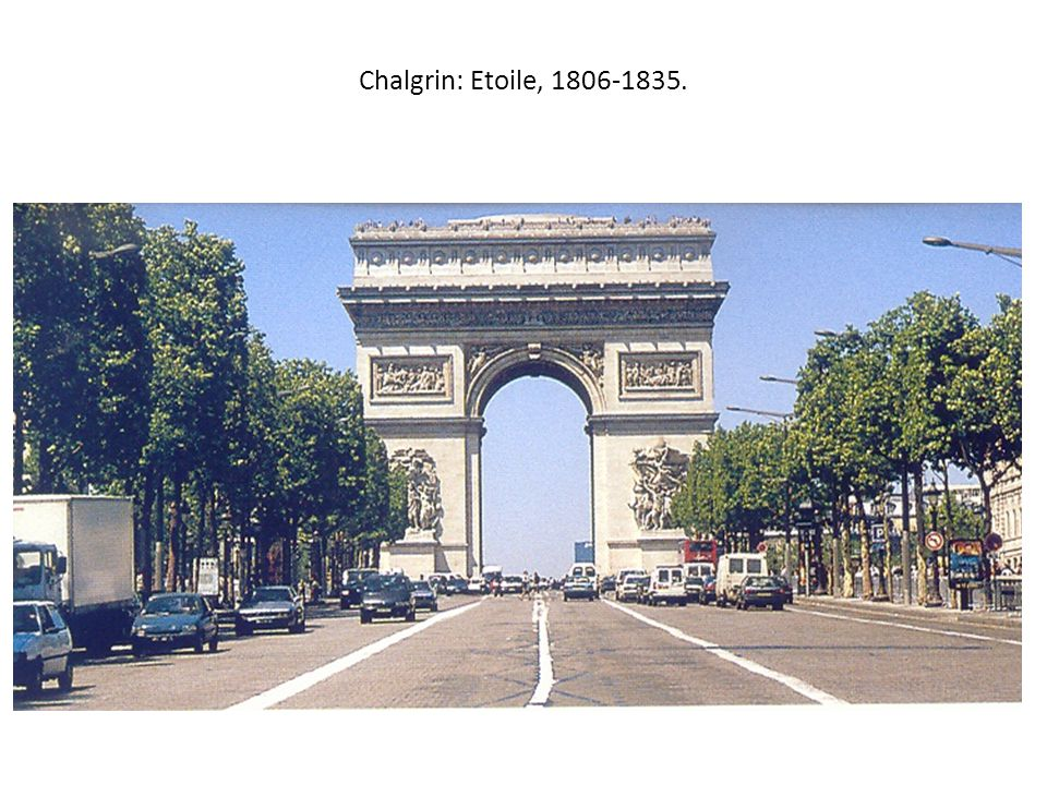 Chalgrin: Etoile, 1806-1835.