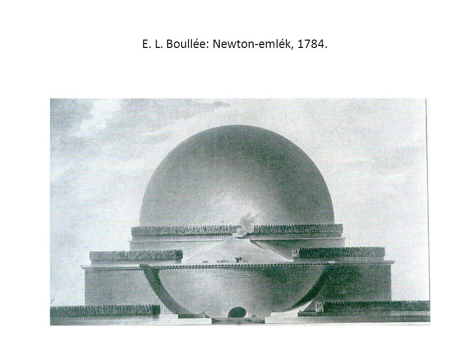 E. L. Boullée: Newton-emlék, 1784.
