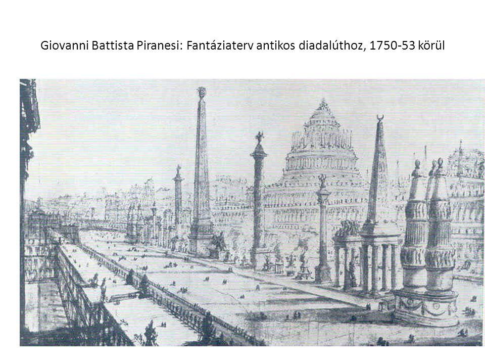 Giovanni Battista Piranesi: Fantáziaterv antikos diadalúthoz, 1750-53 körül