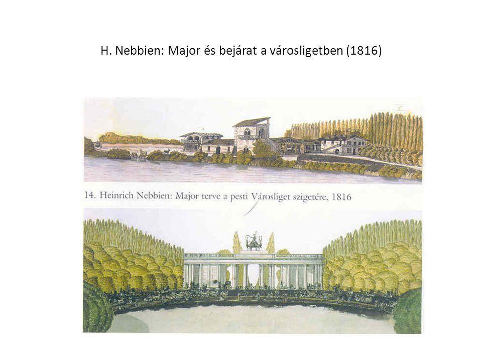 H. Nebbien: Major és bejárat a városligetben (1816)