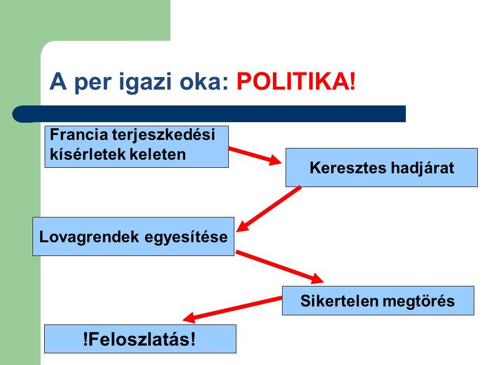 A per igazi oka: POLITIKA!