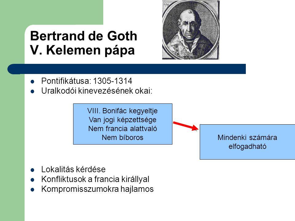 Bertrand de Goth V. Kelemen pápa